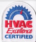H V A C Excellence Certified embroidered patch